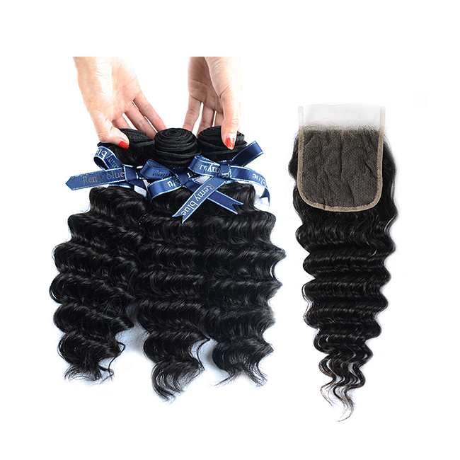 Deep Curly Unprocessed Remy Hair Extensions Weave For Black Woman 350g