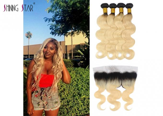 613 Ombre Blonde Body Wave Hair Extensions Honey Blonde Bundle 2 Tone