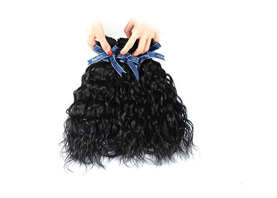 Braiding Human Water Wave Hair Extensions Full Cuticle No Acid  3Pcs Weft