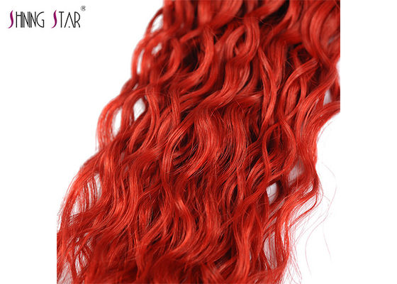 Brazilian Red Water Wave Bundles / Hair Extensions Bundles Natural Wavy