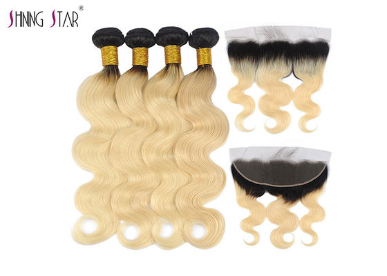 China 613 Ombre Blonde Body Wave Hair Extensions Honey Blonde Bundle 2 Tone supplier