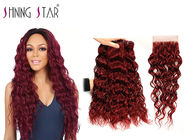 Prevent Shedding Water Wave Hair Extensions Double Drawn Strong Machine Weft