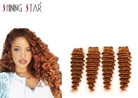 China 4 Bundles Brazilian Deep Wave Human Hair Weave , 30 Deep Wave Blonde Hair Extensions factory