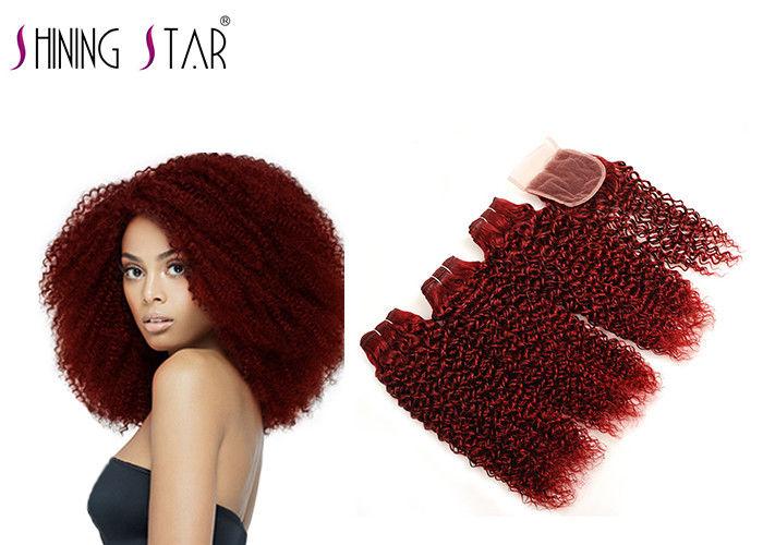99j Color Brazilian Kinky Curly Hair Weave Human Hair 4 Bundles With