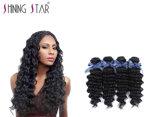 China Virgin Curly Malaysian Deep Wave Hair Bundles Black Can Be Dyed And Ironed distributor