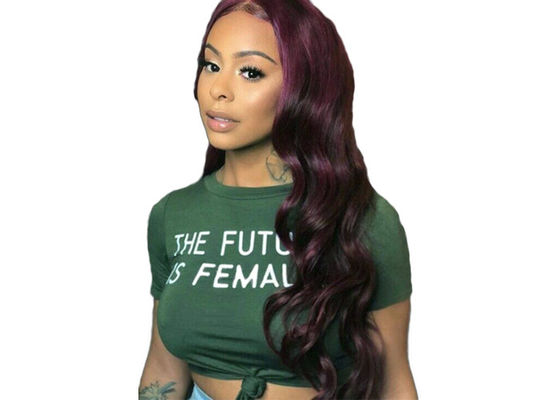 China Body Wave Human Hair 4 Bundles With Closure #135 Grape Purple Acceptable Price distributor