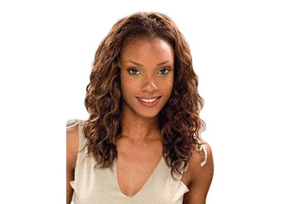 China Virgin Indian Wavy Hair Bundles , Permed Indian Remy Human Hair Bundles distributor