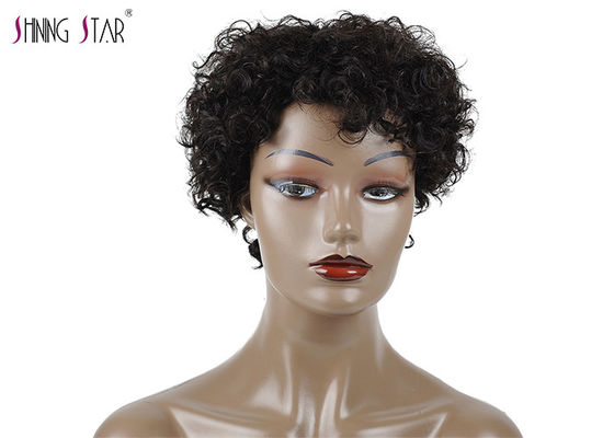 China Natural Short Curly Short Bob Wigs For Black Women None Lace Human Hair Wig distributor